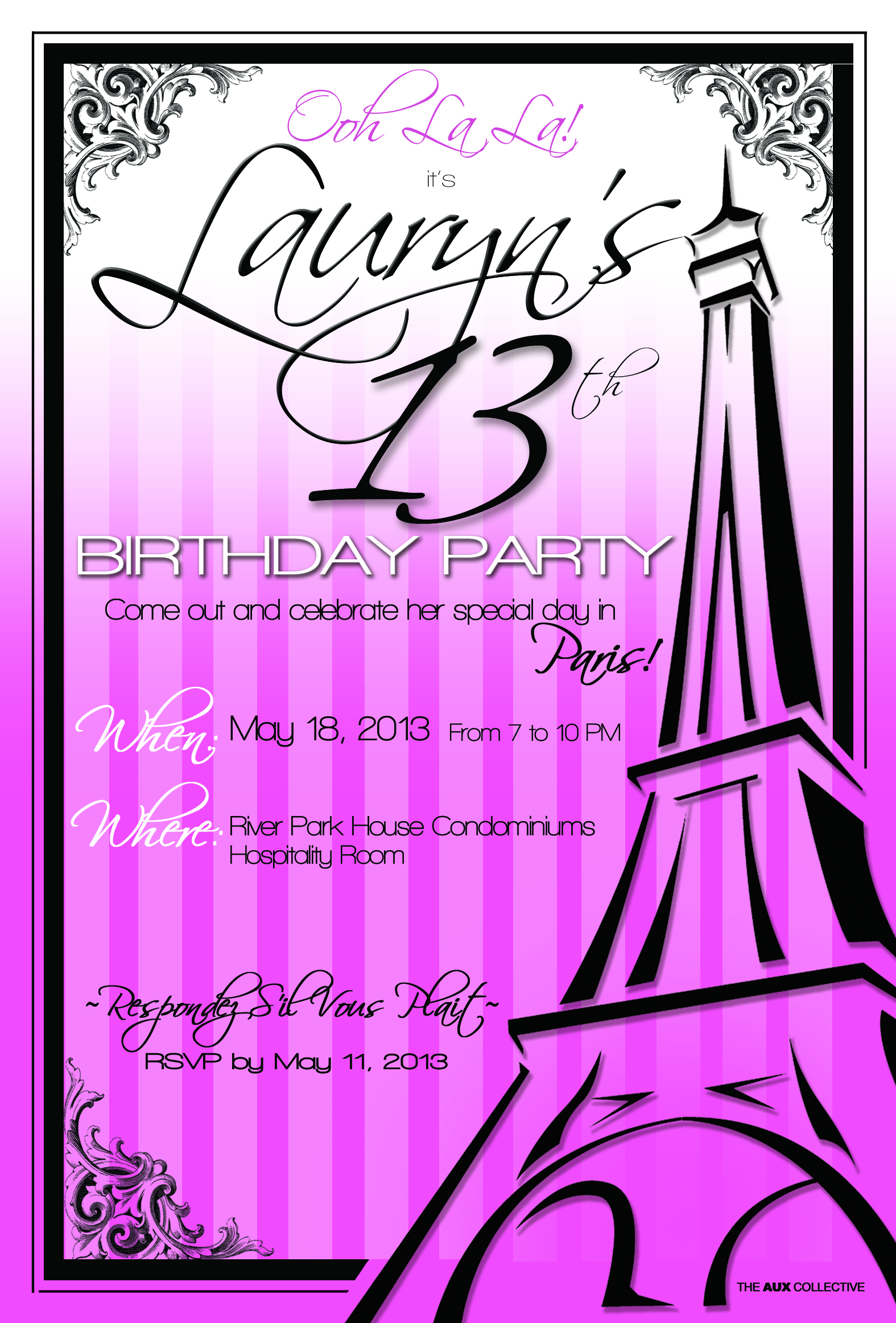 PARIS THEME INVITE